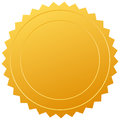 Blank gold seal Royalty Free Stock Photo