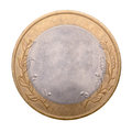 Blank gold and silver coin isolated on white background Stock Image