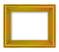 Blank golden decorative rectangular frame illustration Royalty Free Stock Images