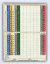 Blank golf score card Royalty Free Stock Photos
