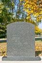 Blank gravestone Royalty Free Stock Photography