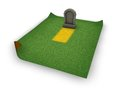 Blank gravestone grass surface d illustration Royalty Free Stock Photography