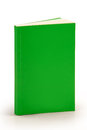 Blank green book cover with clipping path