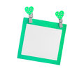 Blank green paper isolated use for insert text Royalty Free Stock Photo