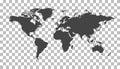 Blank grey political world map. Worldmap Vector template for web