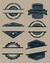 Blank Grunge Stamps and Labels Stock Images