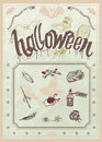 Blank halloween party poster editable vector Stock Photos