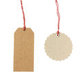 Blank hanging gift tags Royalty Free Stock Photo