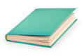 Blank hardcover book clipping path aqua with Stock Image