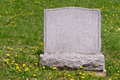 Blank headstone in cemetery Royalty Free Stock Photo