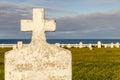 Blank headstone Royalty Free Stock Photo
