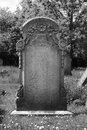 Blank headstone left for your own design Royalty Free Stock Photo