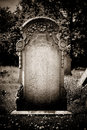 Blank headstone left for your own design Royalty Free Stock Photography