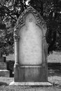 Blank headstone left for your own design Stock Photos