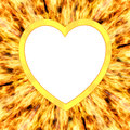 Blank heart shaped frame flame background high resolution d image Royalty Free Stock Photos