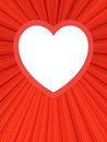 Blank heart shaped frame on red background Stock Images
