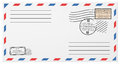 Blank Horizontal Postal Envelope Template