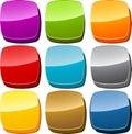 Blank icon button set Royalty Free Stock Photo