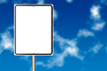 Blank Information Road Sign Stock Photography