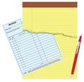 Blank invoice Royalty Free Stock Photo