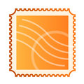 Blank isolated mail stamp Royalty Free Stock Images
