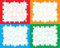 Blank jigsaw pieces individual that can be moved colored or filled to suit your own artwork Stock Images