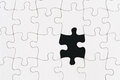 Blank jigsaw puzzle one missing piece with Stock Image