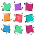 Vector illustration set of frames, labels, promo stickers and tags design.