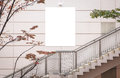 Blank large billboard for advertising Royalty Free Stock Photo