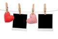Blank love polaroid frame Royalty Free Stock Photo