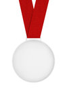 Blank Medal with Ribbon Royalty Free Stock Photo