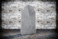 Blank Memorial Gravestone Royalty Free Stock Photo