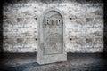 Blank Memorial Gravestone Royalty Free Stock Photo