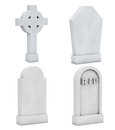 Blank Memorial Gravestone Set Royalty Free Stock Photo