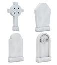 Blank Memorial Gravestone Set Royalty Free Stock Photo