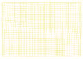 Blank millimeter grid yellow paper sheet background or textured. Royalty Free Stock Photo
