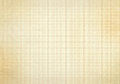 Blank millimeter old graph paper grid sheet background or textured Royalty Free Stock Photo