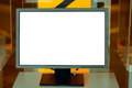Blank monitor screen Royalty Free Stock Images
