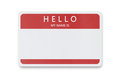 Blank name tag with copy space Stock Images