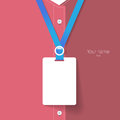 Blank name tag for put staff identification Royalty Free Stock Photo