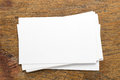 Blank Namecard Top view Royalty Free Stock Photo