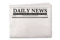 Blank Daily Newspaper Royalty Free Stock Photo