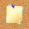 Blank note paper with pin Stock Photography