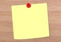 Blank Note On Woddy Board