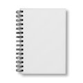 Blank notebook cover on white background over Stock Image