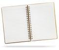 Blank notebook Royalty Free Stock Photo
