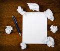 Blank notepad with ink pen Royalty Free Stock Photography
