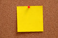 Blank notes pinned into corkboard note brown Royalty Free Stock Photo