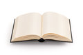 Blank open book - clipping path Royalty Free Stock Photo
