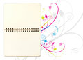 Blank open note book Royalty Free Stock Image